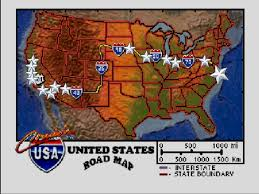 Map Of Usa With Interstates by Did You Catch Bill Clinton In A Tub In This U002790s Arcade Game