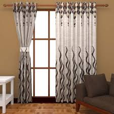 India Curtains Buy India 2 Polyester Door Curtain 9ft Brown