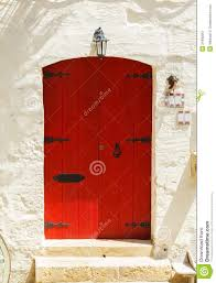 red front door wooden red front door to the house stock image image 34483961