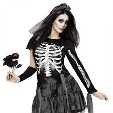 Womens Skeleton Halloween Costume Womens Skeleton Bride Costume Archives Halloween Land