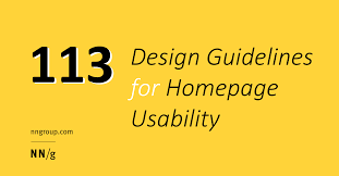 rules for home design story 113 design guidelines for homepage usability jakob nielsen