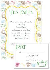 free afternoon tea party invitation template template