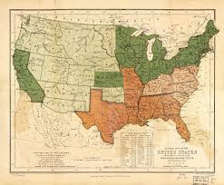 United Stated Map by Free And Slave States Map U2013 State Territory And City Populations