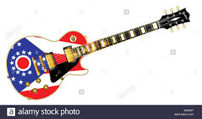 Ohios State Flag The Definitive Rock And Roll Guitar With The Ohio State Flag Seal