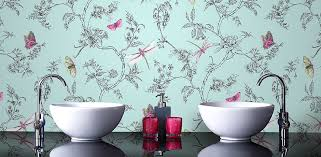 wallpaper ideas for bathrooms 17 stylish bathroom wallpaper ideas plumbing