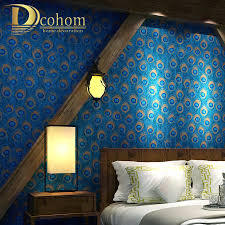 dcohom chinese style peacock feather wallpaper for living room