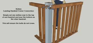 Landing Banister Handrail Fixings Timber Balustrade Fixings