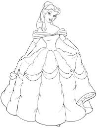 download princess belle coloring page ziho coloring