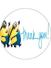 minions cake toppers thank you minions edible cake cupcake toppers