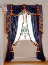 Blue Swag Curtains Blue Tasseled These Are Really Looking Custom Swags And