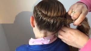 Frisuren Lange Haare Weihnachten by Gewickelter Zopf Frisur Für Mädchen Flechtfrisur Weihnachten
