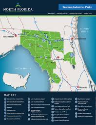 Map Of Florida Airports by North Florida Economic Development Partnership
