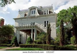 italianate style house italianate style second empire architectural style stock photo