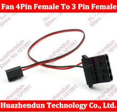 cpu fan 4 pin to 3 pin 8pcs pc fan speed reduce power resistor 4 pin male to female cable