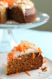 carrot and coconut cake with honey cheese frosting