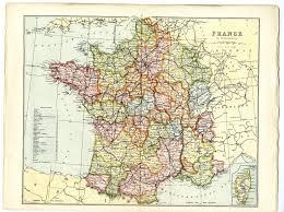 Corsica Map 1868 Antique Map France Corsica Provinces Departments Victorian