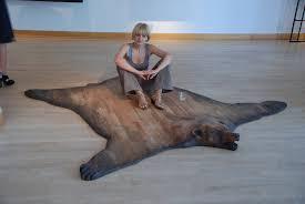 Bison Hide Rug Ideas Faux Sheepskin Area Rug Bear Hide Blanket Fake Bear