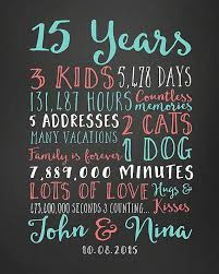 25 year anniversary gift ideas for 15th anniversary gift ideas for him 15th wedding anniversary gift