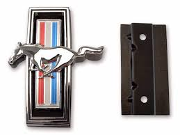 mustang grill emblems 1969 mustang running grille emblem with mounting kit