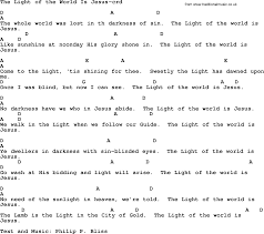 light of the world chords top 500 hymn the light of the world is jesus lyrics chords and pdf