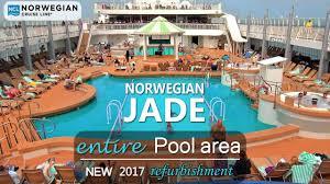 norwegian jade refurbished completely new pool area 2017 dji