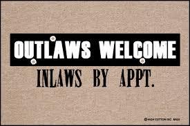 outlaws welcome doormat funny doormats u2013 high cotton inc
