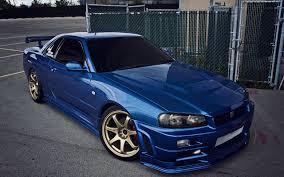 blue nissan gtr wallpaper wallpaper nissan skyline gtr r34 blue cars