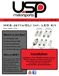 Jetta Interior Lights Not Working Rfb Mk6 Volkswagen Jetta Gli Standard Interior Led Kit Rfb Mk6j