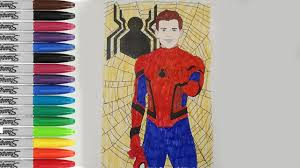spiderman homecoming coloring pages the avenger hero fun pages