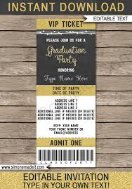 graduation ticket invitations template class of 2017