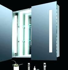 Lighted Bathroom Medicine Cabinets Led Light Medicine Cabinet Illumine Dual Stainless Steel Medicine