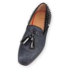 christian louboutin tassilo flat glitter luminor patent men loafer