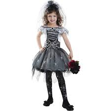 Halloween Costume Bride Gothi Spider Bride Child Halloween Costume Walmart