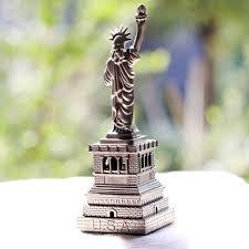 15cm height bronze silver copper usa souvenirs statue of