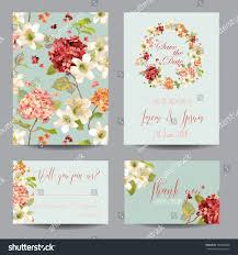 Vintage Floral Frame For Invitation Wedding Baby Shower Card Autumn Vintage Hortensia Flowers Save Date Stock Vector 704208898