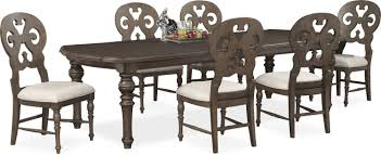 rectangular dining room sets charleston rectangular dining table and 6 scroll back side chairs