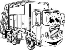 truck cartoon best coloring page wecoloringpage