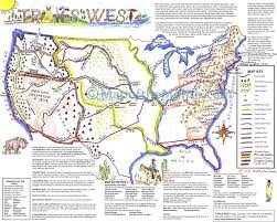 Lewis And Clark Expedition Map Trails Of American West Map Maps For The Classroom