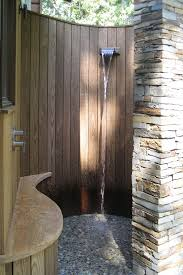 outdoor wood wall bathroom outdoor shower for contemporary patio with wood wall and