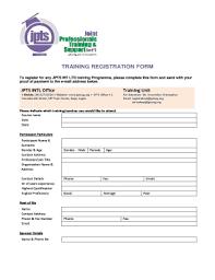 training registration form template word edit fill print