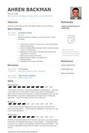 Sample Of Experience Resume by Sandwich Artist Resume Samples Visualcv Resume Samples Database