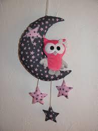 jeux de décoration de chambre de bébé décoration pour bébé enfant mobile lune chouette et étoiles