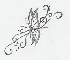 butterfly tribal pic from itattooz