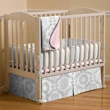 Mini Portable Crib Bedding Sets Pink And Gray Rosa 3 Mini Crib Bedding Set Carousel Designs