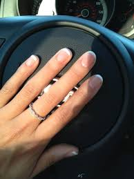 so happy with my french tip gel manicure yelp
