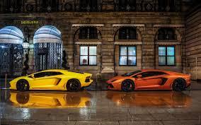 Lamborghini Aventador Orange - yellow orange lamborghini lamborghini aventador italian cars