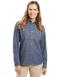 chambray blouse s chambray shirt by woolrich the original outdoor clothing