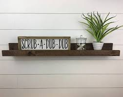 Wood Gallery Shelf by Picture Ledge Shelf Etsy