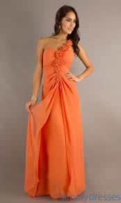 bebe long orange dress pics long one shoulder dress orange long