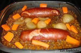 cuisiner saucisse de morteau lentilles à la saucisse de morteau les sophiades